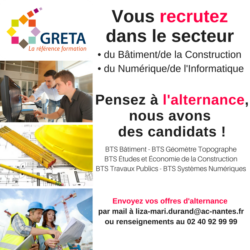 greta formation batiment bts cap alternance reconversion professionnelle nantes saint-herblain